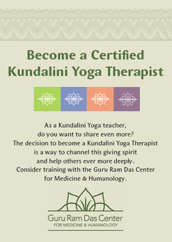 Become a Certified Kundalini Yoga Therapist